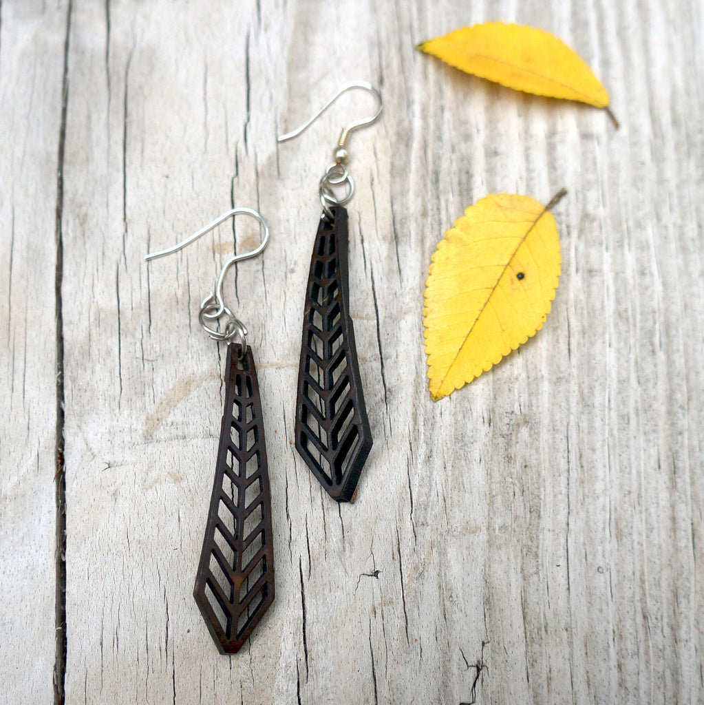 Arrow Earrings - they will complimentary every style. - SustainTheFuture.us - The Natural and Organic Way of Life