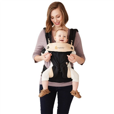 *Registry Fave* Ergo 360 Baby Carrier With Infant Insert - Bundle of Joy - Black & Camel - SustainTheFuture.us - The Natural and Organic Way of Life