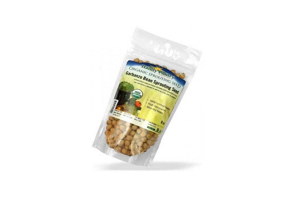 Garbanzo Bean Sprouting Seed (4oz zipper pack) Certified Organic - SustainTheFuture.us - The Natural and Organic Way of Life