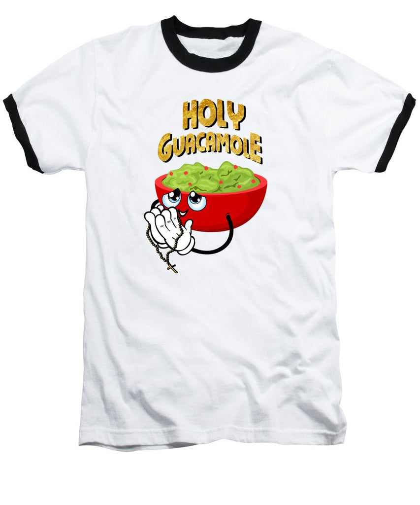 Baseball T-Shirt - Holy Guacamole - SustainTheFuture.us - The Natural and Organic Way of Life