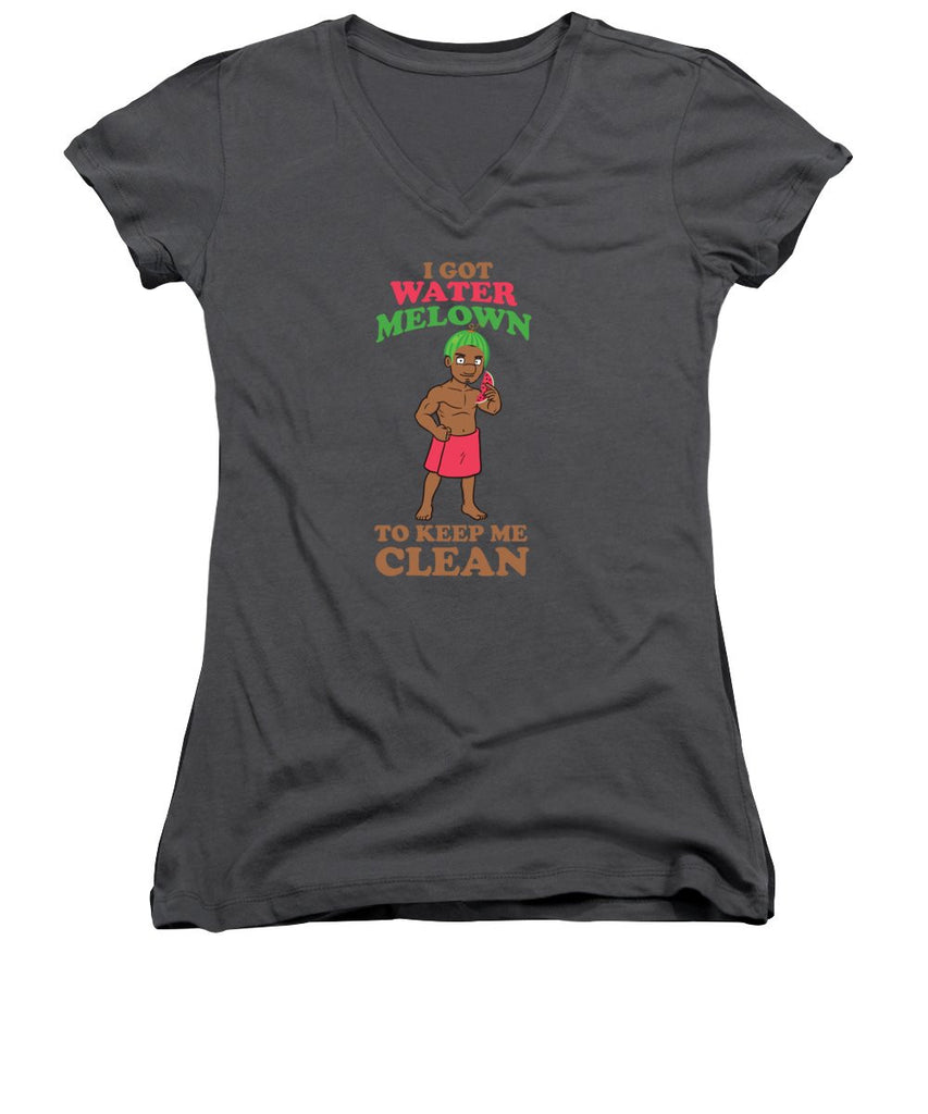 Women's V-Neck T-Shirt (Junior Cut) - I Got Water Melon