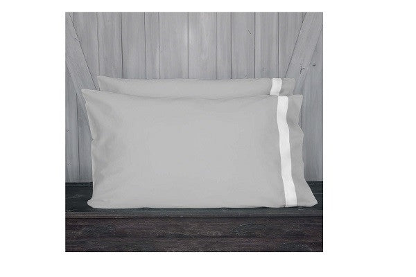 Banded Pillowcase Set - 100%-certified organic with eco-friendly, non-toxic dyes - SustainTheFuture.us - The Natural and Organic Way of Life