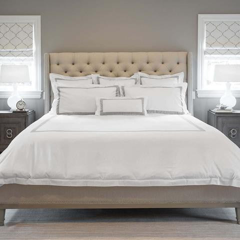 Banded Duvet Cover - GOTS approved eco-friendly, non-toxic dyes - SustainTheFuture.us - The Natural and Organic Way of Life
