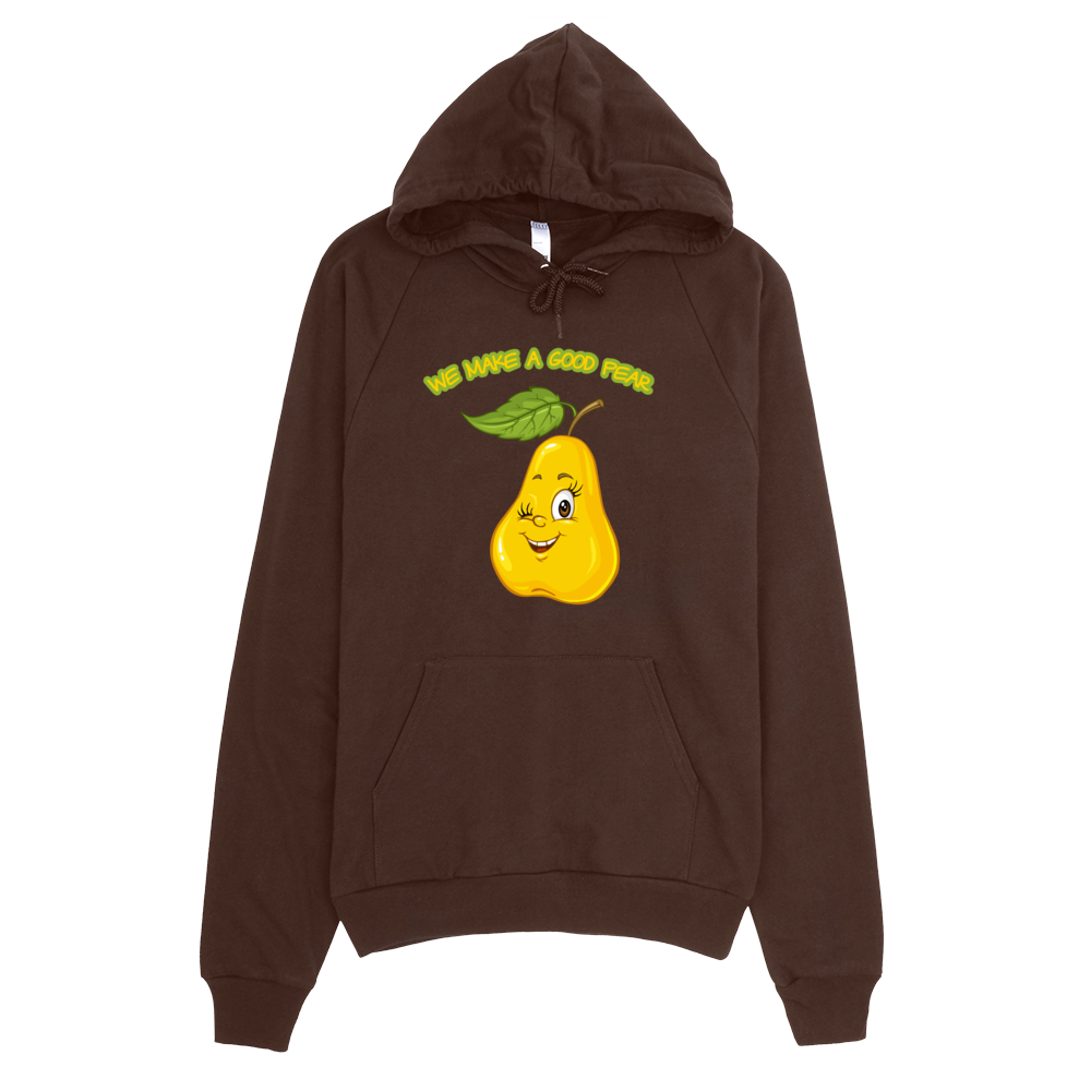 Hoodie Pear • 100% California fleece cotton • Hooded with matching finished polyester drawcord • Raglan sleeves • Kangaroo pocket - SustainTheFuture.us - The Natural and Organic Way of Life