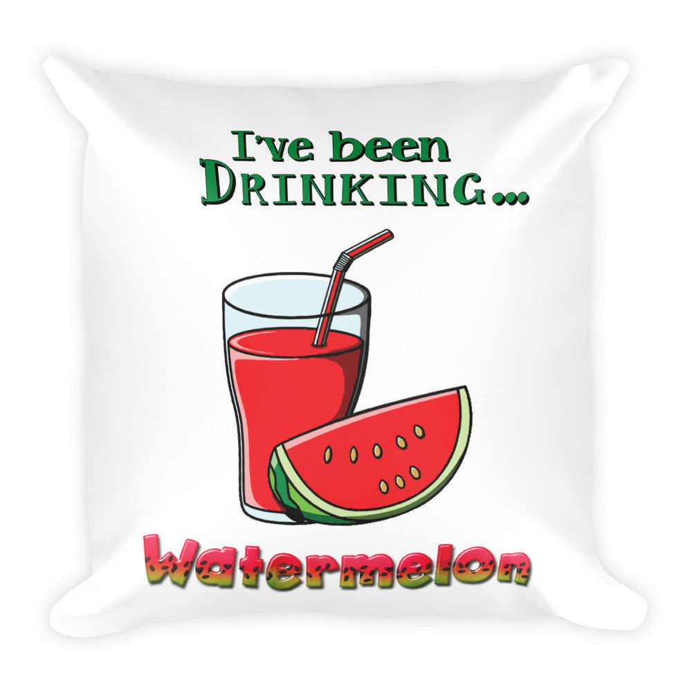 "Pillow Watermelon • 18x18""  • machine washable cover • concealed zipper • printed on both sides"