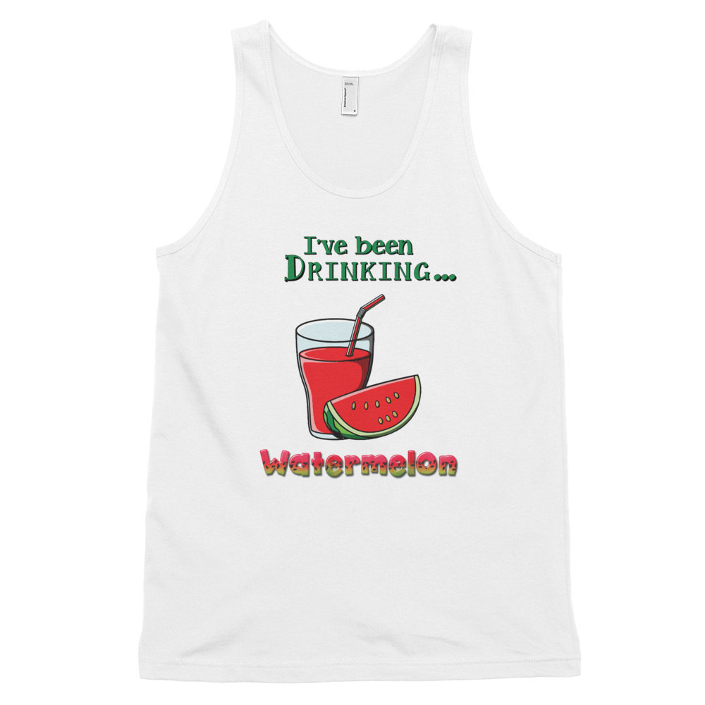 Classic tank top (unisex) Watermelon • 100% fine jersey • Banded arm and head holes - SustainTheFuture.us - The Natural and Organic Way of Life