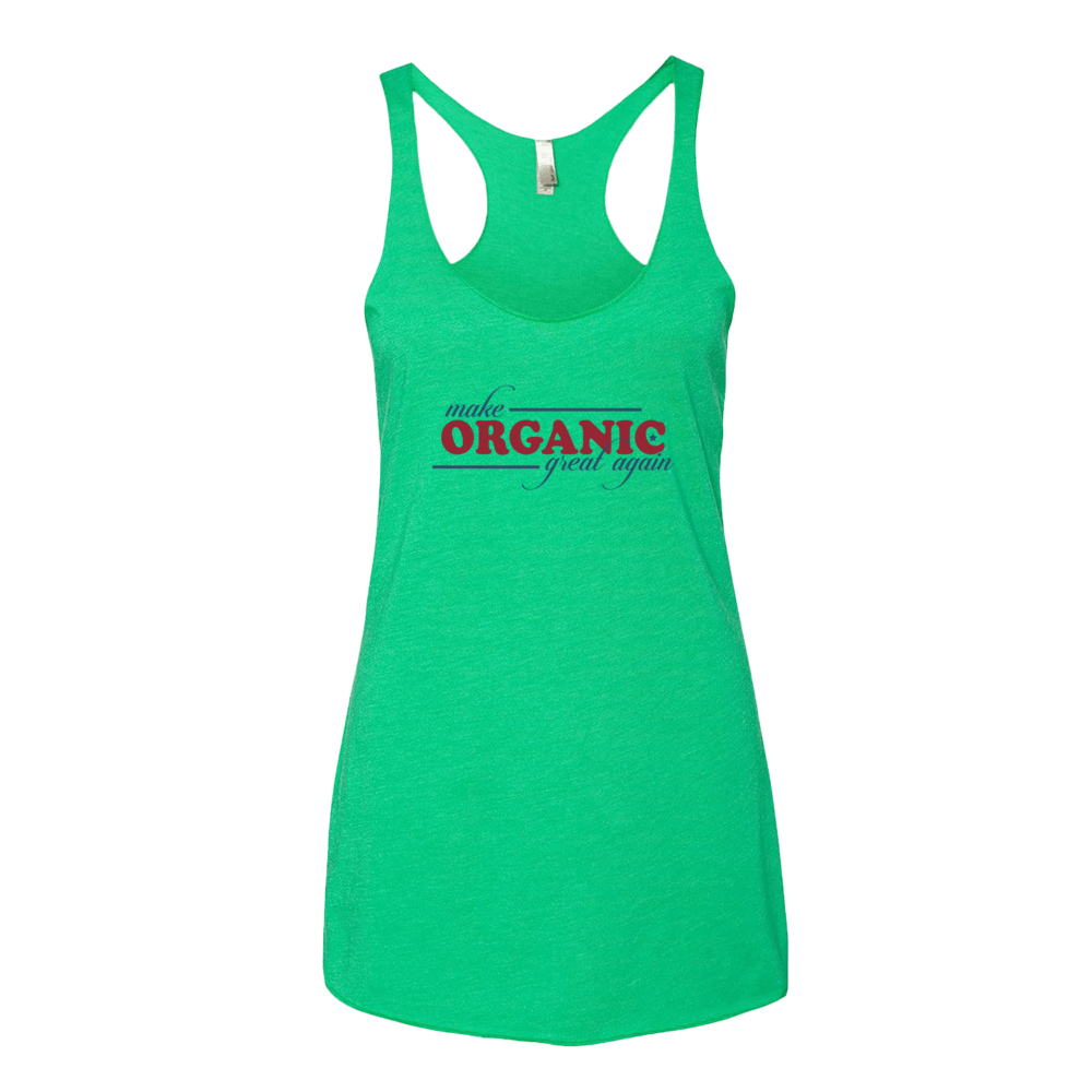 Women's tank top • Fabric laundered • Made of 50% polyester, 25% combed ringspun cotton, 25% rayon • Satin label • Racerback