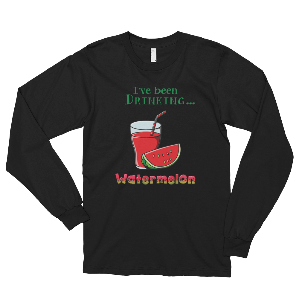 Long sleeve t-shirt (unisex) Watermelon • Long sleeves • Cuffed hands • Durable ribbed neckband • Double stitched - SustainTheFuture.us - The Natural and Organic Way of Life