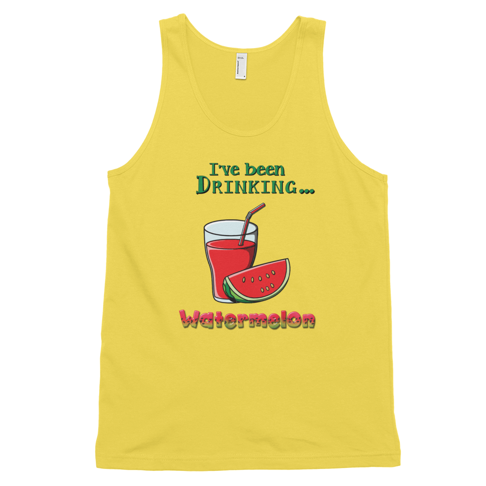 Classic tank top (unisex) Watermelon • 100% fine jersey • Banded arm and head holes