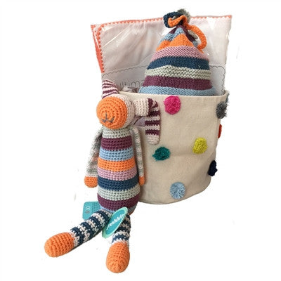 Unisex Organic Baby Gift - Bold and Bright Basket