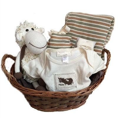 Lovely Lamb Organic Gift Basket