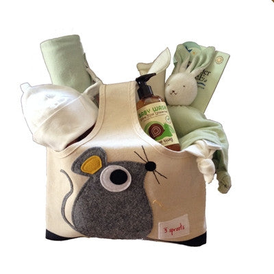 Organic Baby Gift Basket under $100.00 - Unisex Green