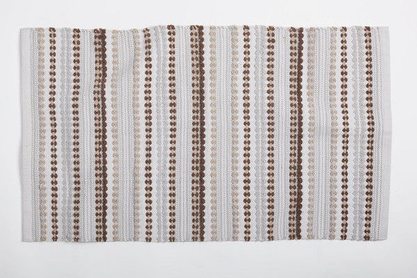 Palm Canyon Rug. 100% organic cotton is grown and woven in India.