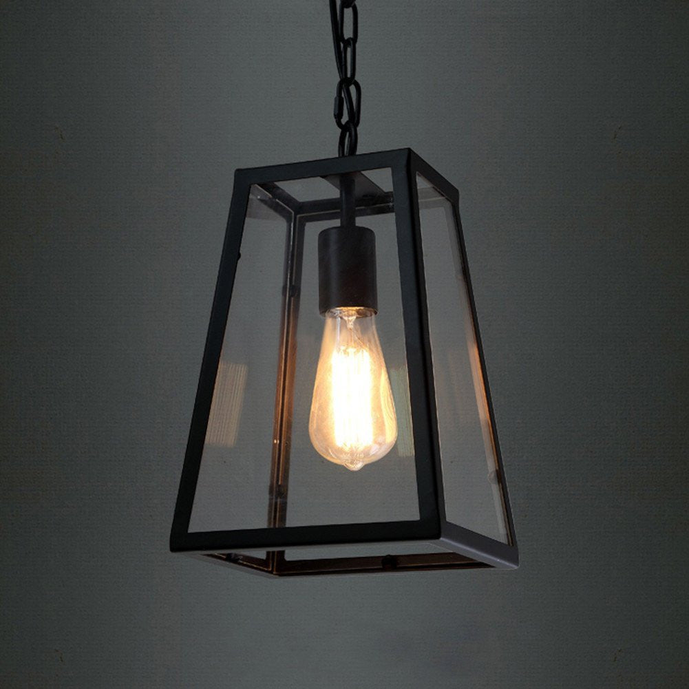 American Village Industrial retro Pendant Lights Edison LED bulb Cafe Restaurant droplight Black wrought iron lamp E27 Lighting - SustainTheFuture.us - The Natural and Organic Way of Life