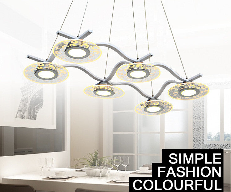 2016 Newest contemporary and contracted loft chandelier 5W LED  acrylic UFO desgin restaurant pendant lamp cafe droplight - SustainTheFuture.us - The Natural and Organic Way of Life