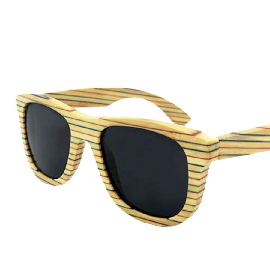 2016 Vintage Bamboo Wood Eyeglasses Men Mirror Lense Retro polarized Sunglasses Eyewear UV400 Protection Fashion Sun Glasses