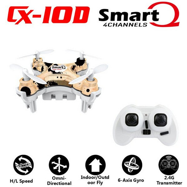 Cheerson CX10D CX 10D CX-10D 2.4GHz 4CH 6 Axle Gyro High hold Mode RC Helicopter Quadcopter Micro Mini Drone RTF F17746/7