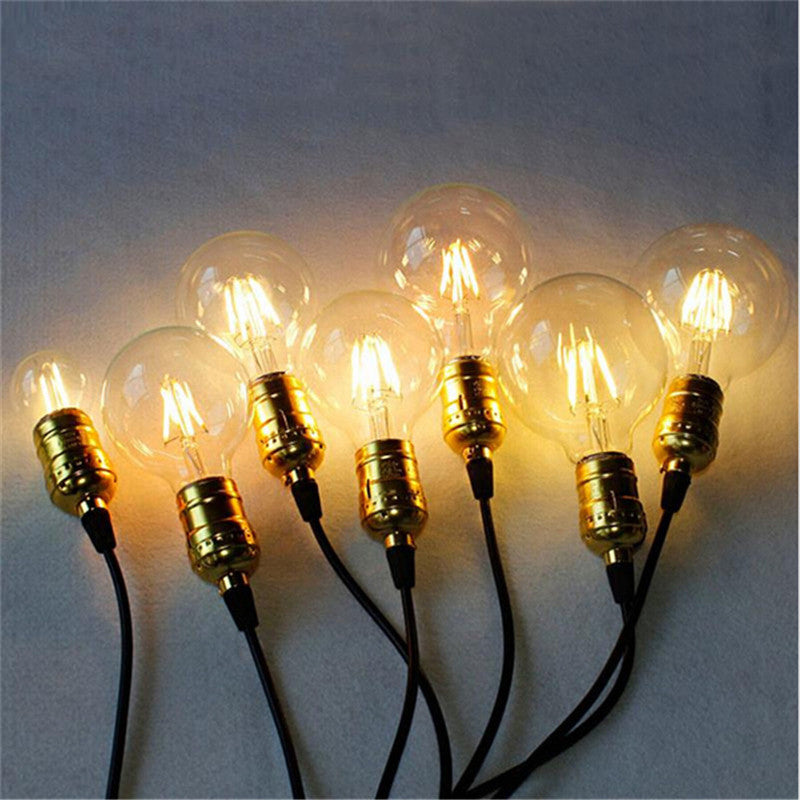 Real watt 2W 4W 6W Vintage Led Filament LED Edison Bulb E27 E14 220V Retro Led Light Glass Bulb Candle Light Energy Saving Lamp
