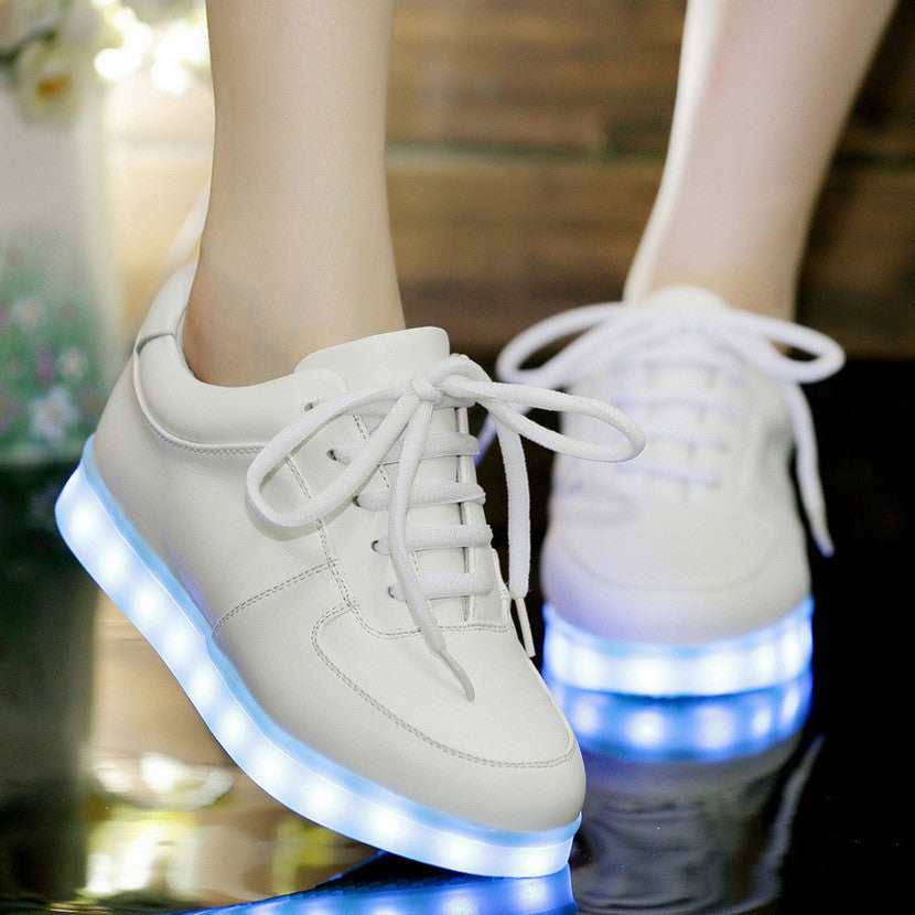 2016 light up women shoes led casual shoes woman zapatos mujer fashion Led shoes for adults plus size led luminous shoes man