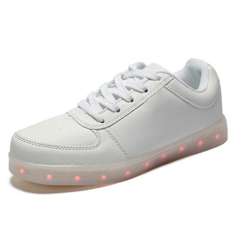 2016 new USB Charging Basket Led Children Shoes With Light Up Kids Casual Boys&Girls Luminous Sneakers Glowing Shoes enfant