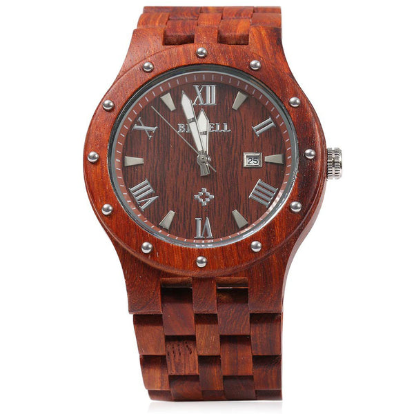 2016 Top Brand Bewell ZS - W109A Fashion Watch With New Design  Men Wooden Bangle Quartz Watch With Calendar Display