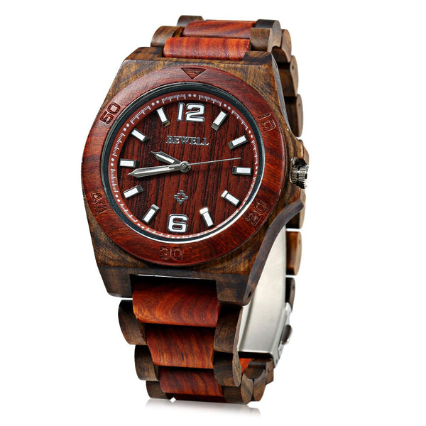 2016 Hot sell Men Watch Bewell 082 Men Wooden Bangle Quartz Watch with Calendar Display Role Fashion and Classical