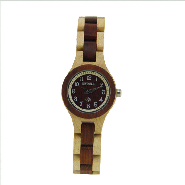 BEWELL Quartz Wooden Watch Women Top Luxury Brand Wood Women Watches Fashion Simple Analog Wristwatches