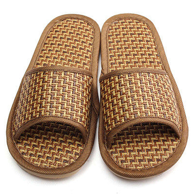 New Arrival Summer Natural Bamboo Shoes Flax Slipper Home Indoor Antiskid Men Women Rattan Mat Bottom Cool Slippers