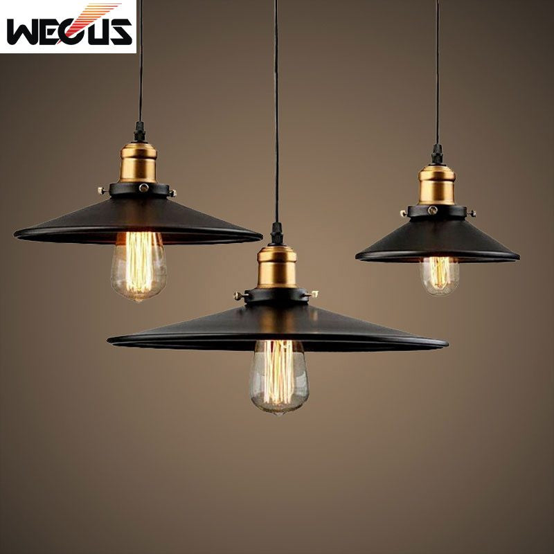 (Wecus) American Edison loft pendant light Vintage Industrial Retro lamp warehouse restaurant dining room bar hanging lamp - SustainTheFuture.us - The Natural and Organic Way of Life