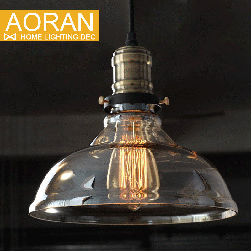 American vintage pendant lights clear  glass hanging bell pendant lamp E27 110V 220V for dinning room home decor planetarium - SustainTheFuture.us - The Natural and Organic Way of Life