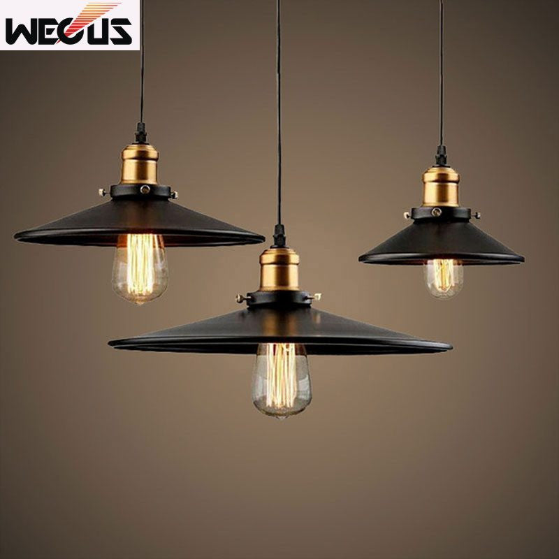 (Wecus) Loft Industrial retro lamps Warehouse dining room stair deli Pendant Lights American Country Lamps Vintage Lighting