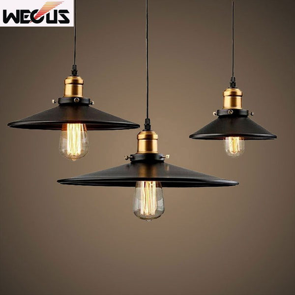 (Wecus) Loft Industrial retro lamps Warehouse dining room stair deli Pendant Lights American Country Lamps Vintage Lighting - SustainTheFuture.us - The Natural and Organic Way of Life