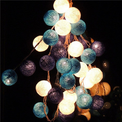 20PCS,christmas lights,garland string lights,AC110V/220V,cotton ball light,home indoor decoration,wedding decoration,fairy light - SustainTheFuture.us - The Natural and Organic Way of Life