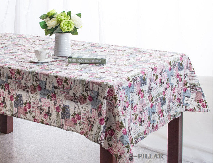5 Types Mediterranean Style Table Cloth Printed Table Linen Fresh Tablecloths For Wedding Mesa Nappe Ecofriendly