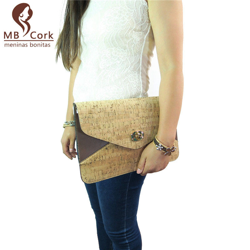 Portuguese Cork bags natural cork women Envelope Package Bag beige ,office lady  fashion and original, handmade Bag-98