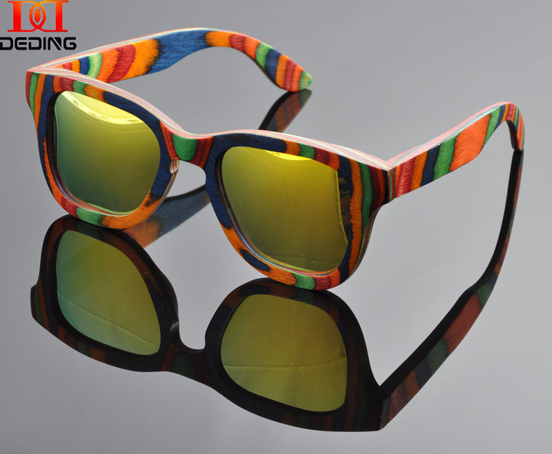 2015 Multicolored wood  Sunglasses Women Natural Wood Frame  Gafas de sol de madera  Oculos de sol da Moda Madeira Female DD0915 - SustainTheFuture.us - The Natural and Organic Way of Life