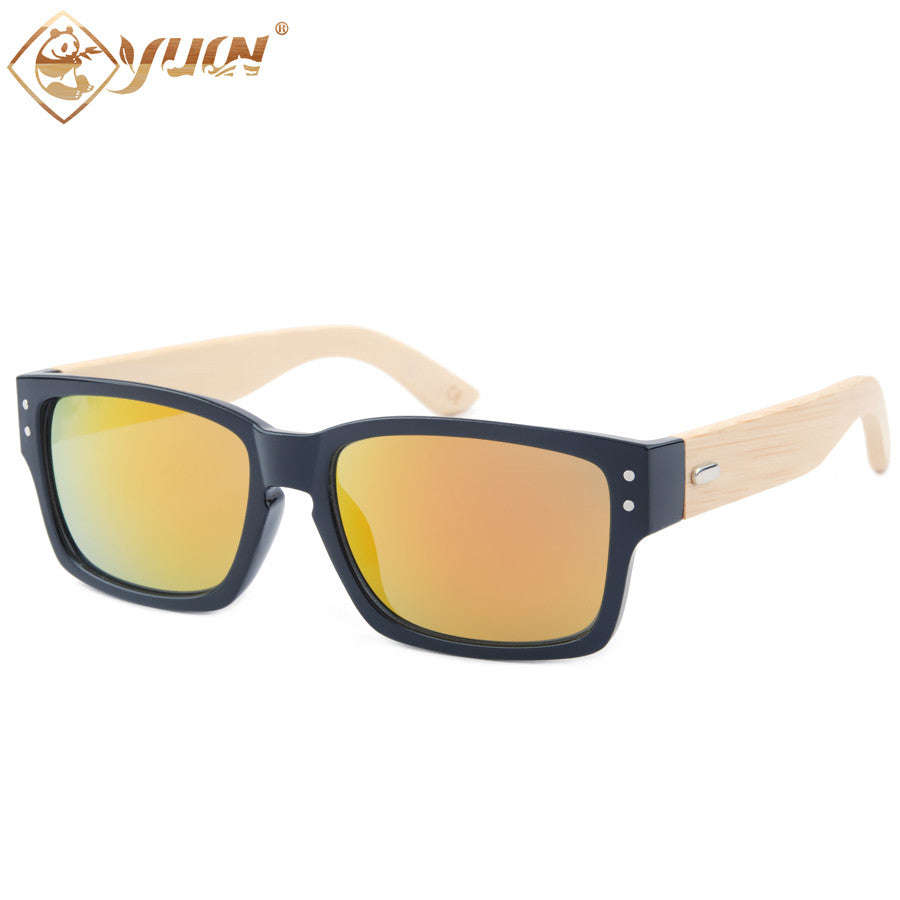 2016 New men sunglasses bamboo arms sun glasses metal hinge hand made natural bamboo sunglasses 1034 - SustainTheFuture.us - The Natural and Organic Way of Life