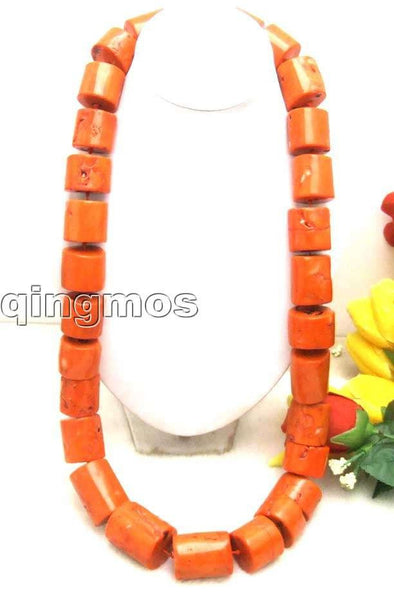"Beautiful! Big 20-30mm GENUINE NATURAL graduate Thick Slice Pink Coral Long 35"" Necklace-5595 wholesale/retail Free shipping - SustainTheFuture.us - The Natural and Organic Way of Life"