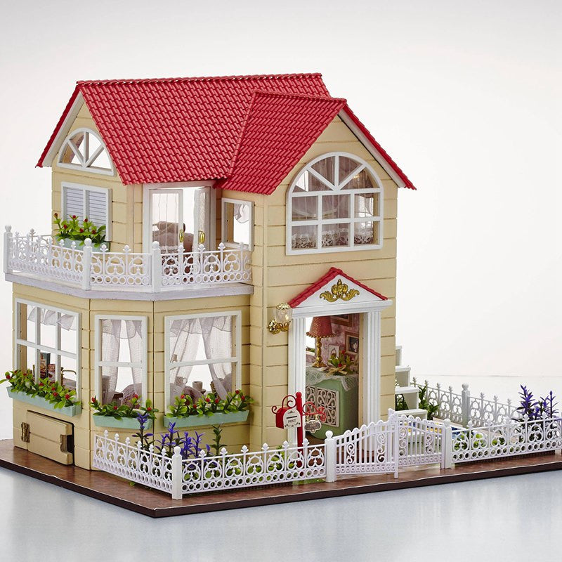 New DIY 3D Wooden Dollhouse Princess Room Handmade Decorations Birthday Gift Children Toy With Furnitures for Birthday Gift
