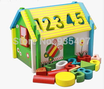 Digital home building blocks baby educational toys  birthday gift