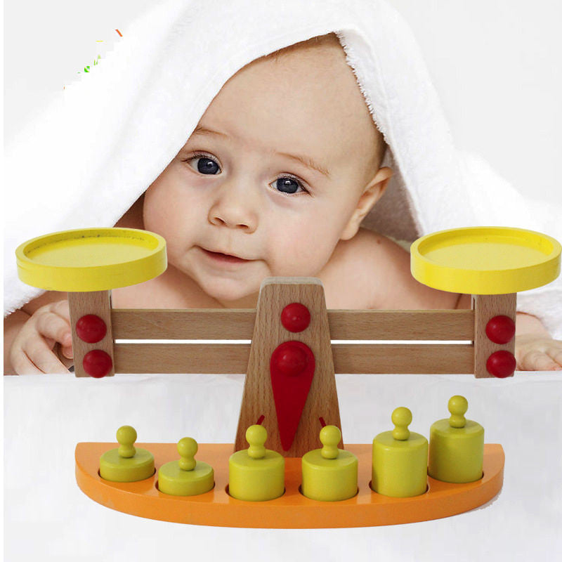 2017 Montessori Educational Wooden toys Kitchen Montessori Toys Materials Montessori Wooden Scale Balance Toys For Children