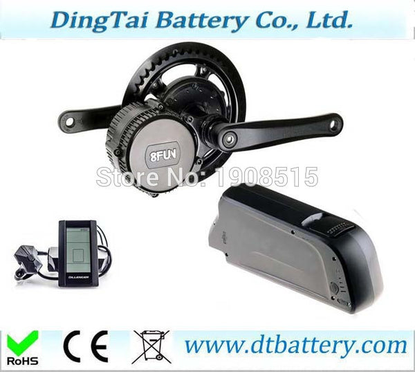 BBS02 C961 8fun/bafang 48V 500W motor crank motor kits with lithium ion battery pack 48V 12ah for electric bicycle