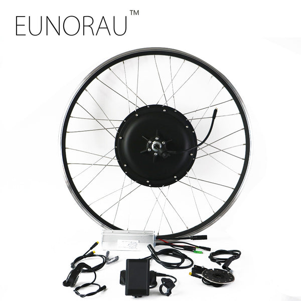 Free shipping LCD system brushless Non-gear hub motor rear wheel 48v 1000W electric bike kit with 26/28inch rim