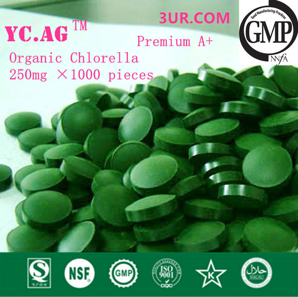 250g 100% Organic Chlorella Vulgaris Chlorella Pyrenoidosa Tablet 250mgx1000pcs Broken High Quality Rich of Chlorophyll,Protein - SustainTheFuture.us - The Natural and Organic Way of Life