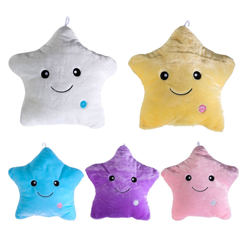 Cute Star Heart Animal Light Cushion Christmas Birthday Gifts Dream Colorful Glow LED Luminous Light Pillow Cushion Emoji Pillow - SustainTheFuture.us - The Natural and Organic Way of Life