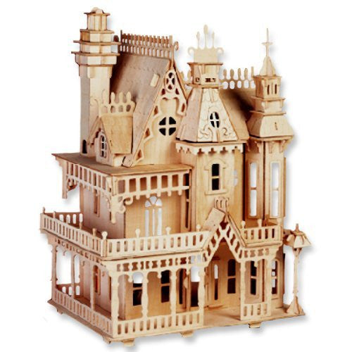 3d Wooden Puzzle Fantasy Villa Wood Craft Construction DIY Toys