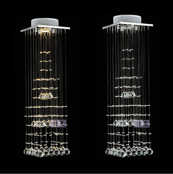 Modern Clear Waterford Spiral Sphere LED Lustre Crystal Chandeliers Ceiling Lamp Suspension Pendant Lamp luminaria home lighting