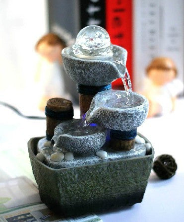 fountain water features feng shui wheel desktop decoration home decor Household water fountain gift