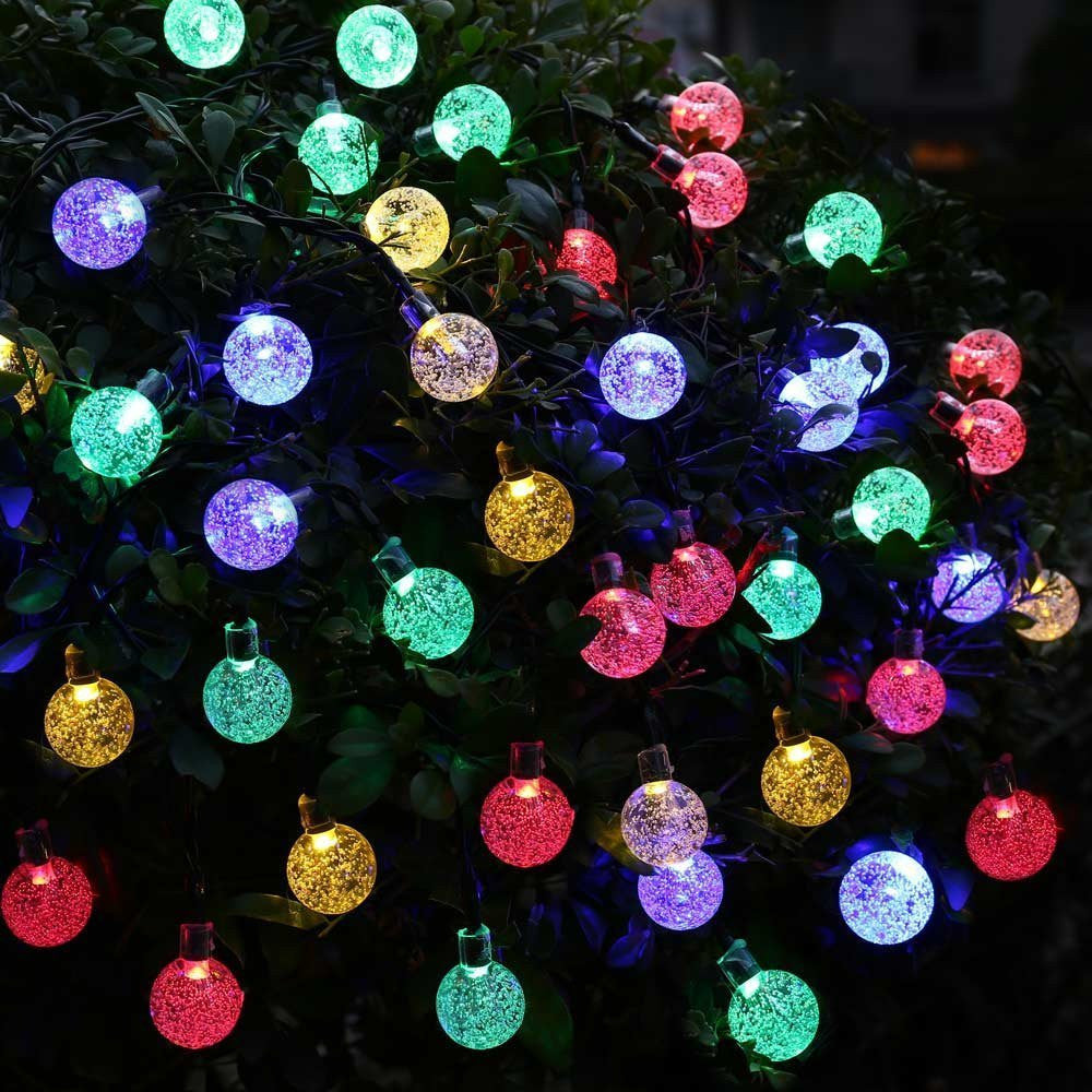 20ft 30 LED Crystal Ball Solar Powered lederTEK Brand Most Popular Globe Fairy Lights for Outdoor Garden Christmas Decoration - SustainTheFuture.us - The Natural and Organic Way of Life