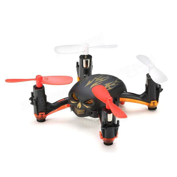 GW008 Mini Skull 2.4G 4CH 6Axle Automatic Parallel System 3D Rolling RC Quadcopter Drone MODE2 RTF